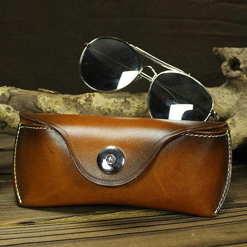 Laest Fashion Style Full Grain Cow Leather Glasses Bag