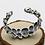 Thumbnail: Western punk rock style domineering skull men's bracelet sterling silver 925