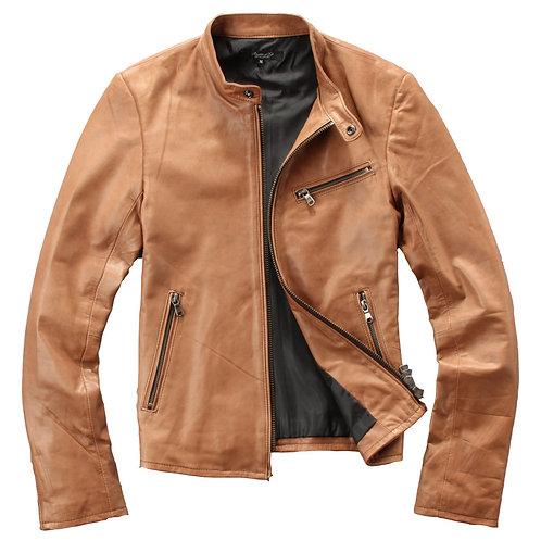 Men's Premium Lambskin Leather Bomber Jacket