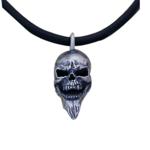 Creative unique design skull pendant sterling silver 925