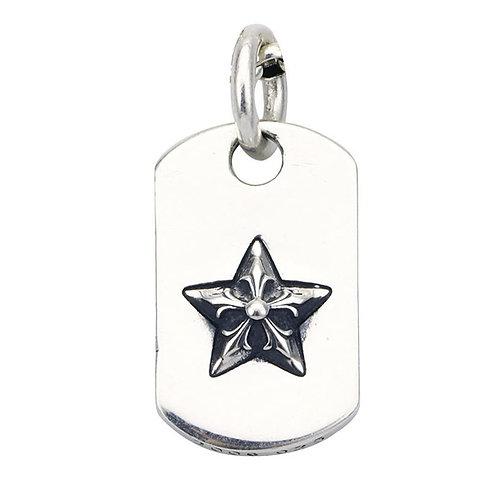 Silver retro fashion pentagram pendant sterling silver 925
