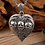 Thumbnail: Silver retro heart-shaped skull pendant sterling silver 925