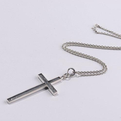 Silver retro fashion simple design cross pendant sterling silver 925