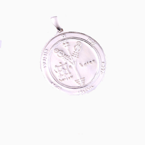 Simple design fashion tarot card round pendant sterling silver 925