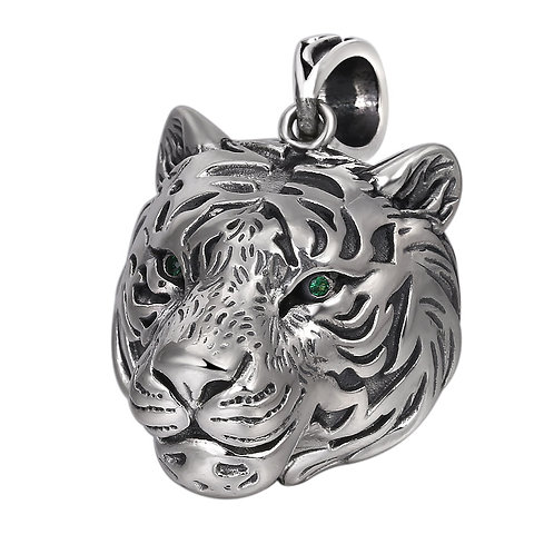 Silver hollow-out tiger men's pendant sterling silver 925  retro style