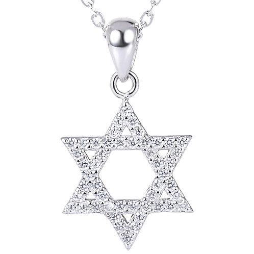 Korean style simple design hexagram star pendant sterling silver 925