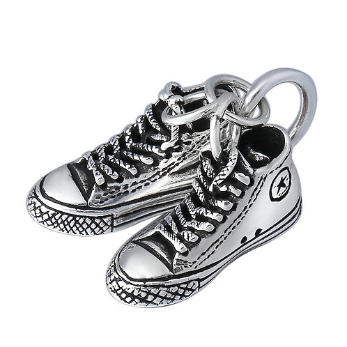 Fashion retro silver shoes pendant sterling silver 925