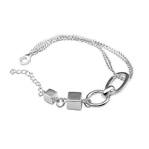 Silver simple design montage bracelet sterling silver 925