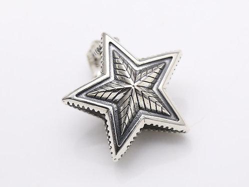 Silver punk pentagram star pendant sterling silver 925