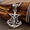 Thumbnail: Retro fashion design Jesus cross anchor pendant sterling silver 925