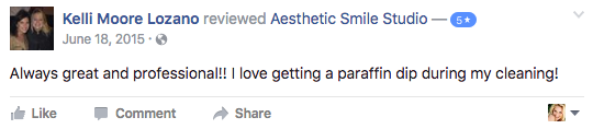 cosmetic dentist client testimonial