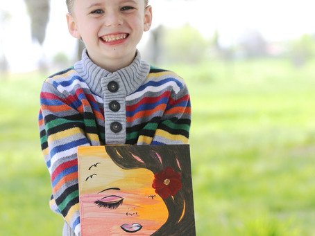 Young artist Nathaniel Pruitt found his artistic talent at a young age, and has continued to make a