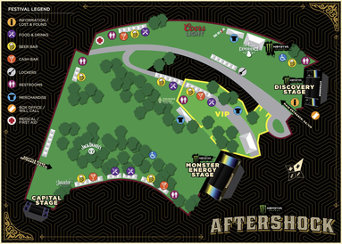 AfterShock Festival releases its 2016 Venue Map and Set Times