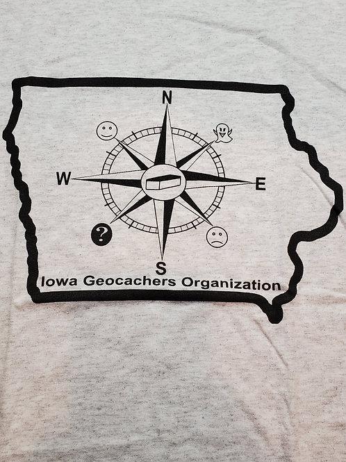 IGO Compass,Light Grey T-Shirt