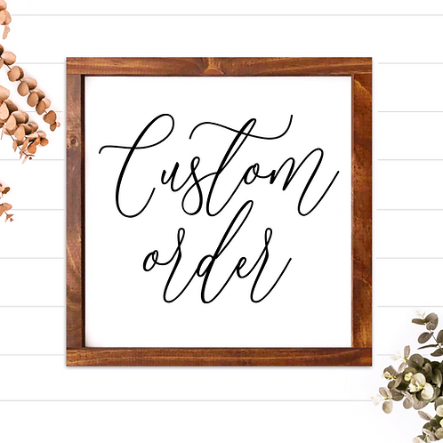 Kristina Pica - Custom Order