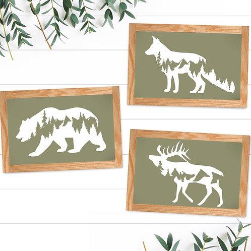 Set of 3 - Wildlife