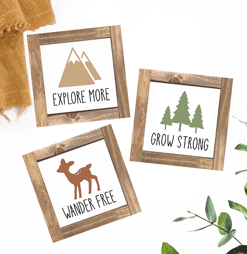 Wander Free, Grow Strong, Explore More Set