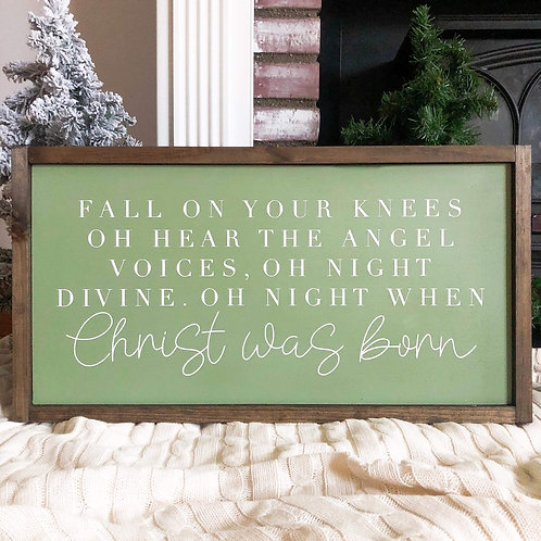 Oh Night When Christ Was Born - Green