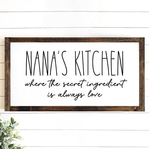 Nana's Kitchen (Personalize)