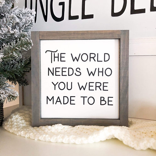 The World Needs You (#3)