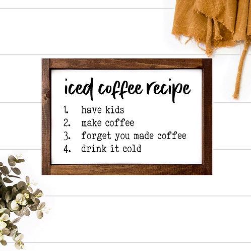 Iced Coffee Recipe