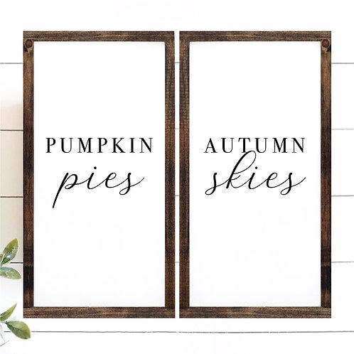 Pumpkin Pies, Autumn Skies Set