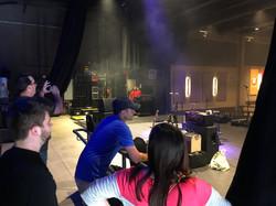 Delmar Hall backstage