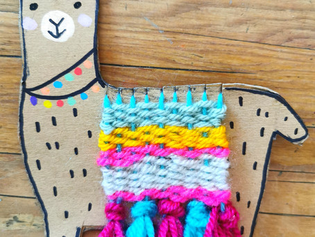 Kids Craft Activity - Learn to weave with this gorgeous colourful llama