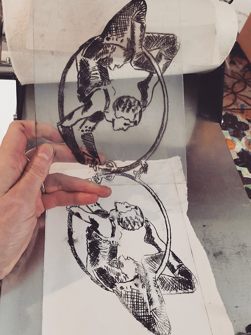 Thurs 29th July 10-11.30am - Vintage Circus Etching