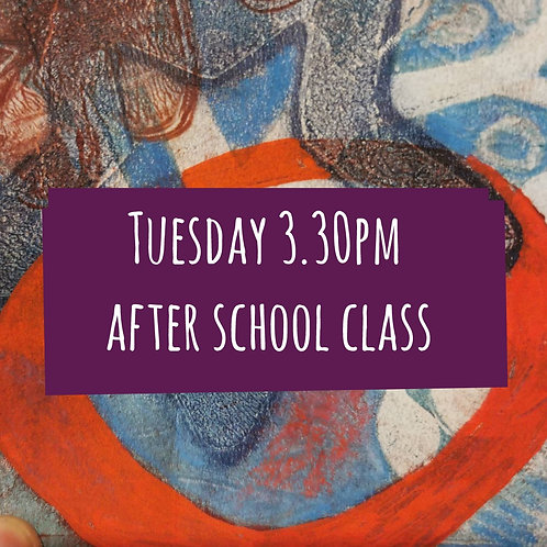 Tues 3.30pm After School Art Course
