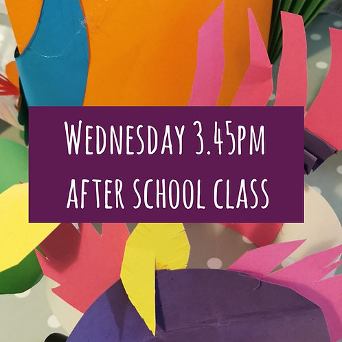 Weds 3.45pm After School Art Course