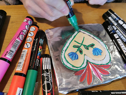 Weds 28th July 10-11.30am - Mexican Decorative Tiles