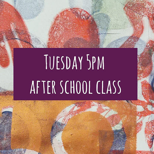 Tues 5pm After School Art Course