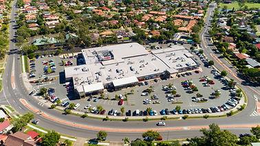 Top view of Park Village Shoppin Centre