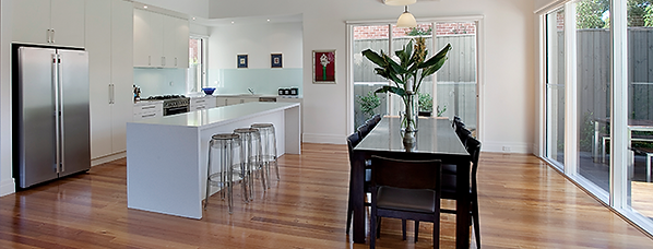 Pinnacle Sales and Management Kitchen with long dining table