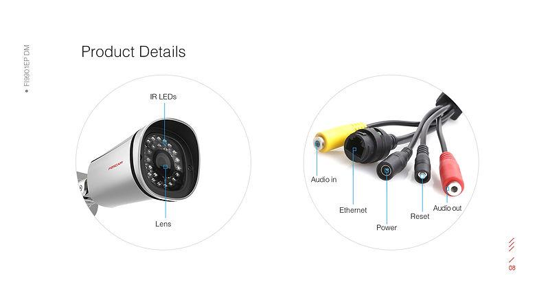 Foscam FI9901EP IP Camera untuk Perusahaan dengan POE