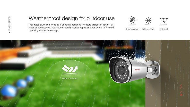 Foscam FI9901EP Weatherproof IP66
