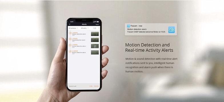 Foscam G4EP Motion detection push notifi