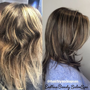 This lovely client of mine wanted and ne