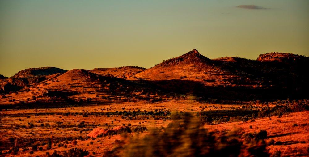 Desert in red