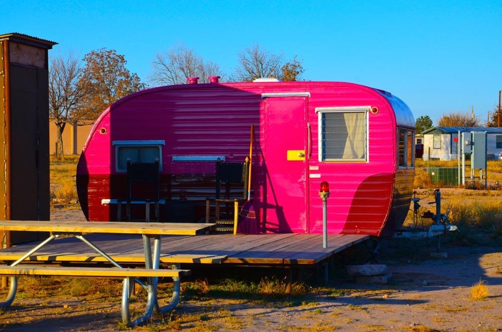 Pink Motorhome, Marfa