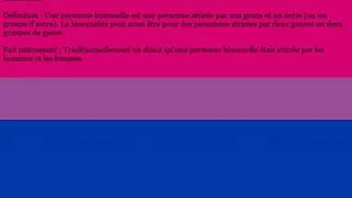 Définition des orientations sexuelles et identités de genres 3/3