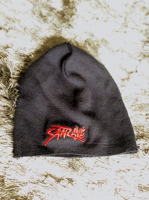 Black Beanie w/ Embroidered Red Logo
