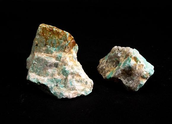 Natural Untreated Amazonite Rock Specimen Sold In Bulk