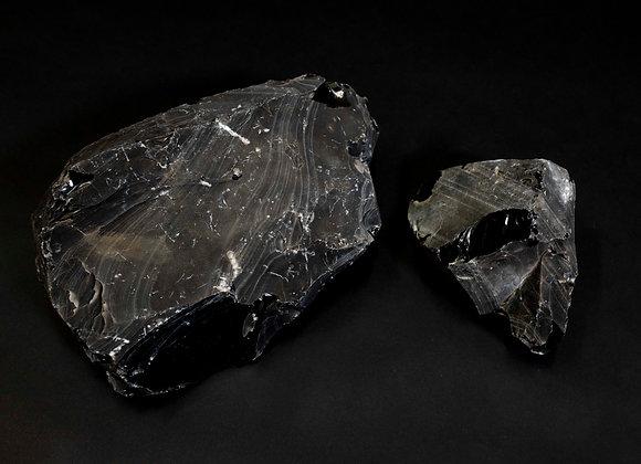 Rainbow Obsidian Uncut Unpolished Rock Specimen