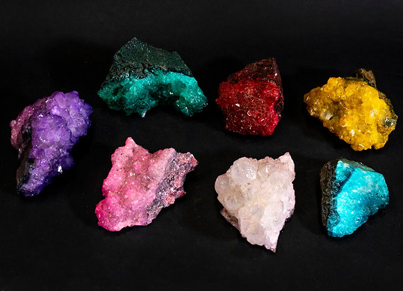Dyed Amethyst Rock Specimen