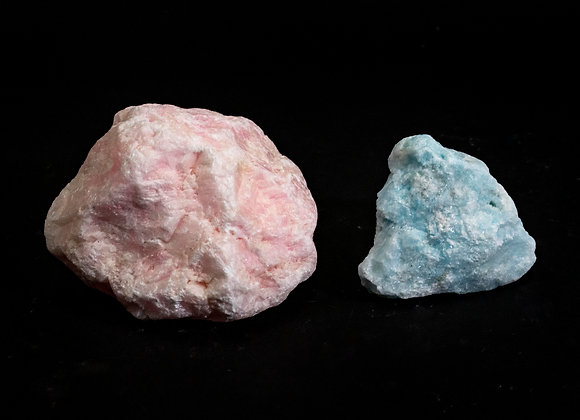Blue And Pink Aragonite Rough Stones Sold By The Pound