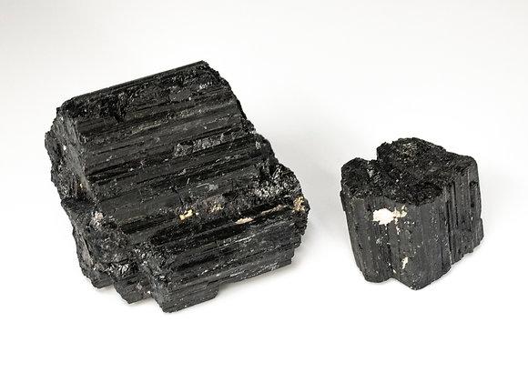 Natural Black Tourmaline Uncut Rough Sold In Bulk