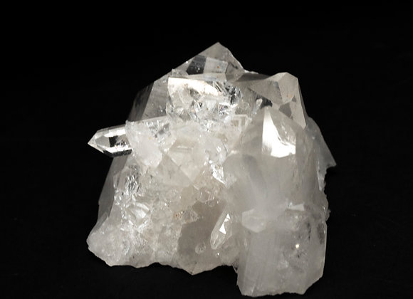 Arkansas Quartz Crystal Cluster With Thick Point And Multiple Small Crystal Points