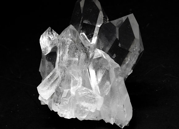 Clear Point Quartz Crystal Cluster